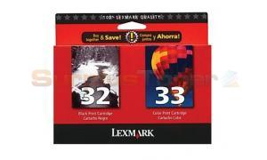 LEXMARK NO 32 33 PRINT CTG CMYK COMBO PACK (53A2098)