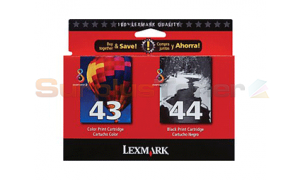 LEXMARK NO 44 43 PRINT CTG BLACK/COLOR TWIN PACK (53A4232)