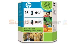 HP NO 15 INK CARTRIDGE BLACK TWIN PACK (C6653FC#140)