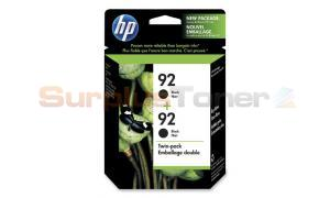 HP NO 92 INKJET CARTRIDGE BLACK TWIN PACK (C9512FC)
