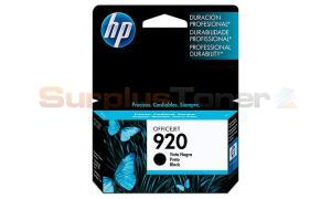 HP NO 920 OFFICEJET INK CARTRIDGE BLACK (CD971AC#140)