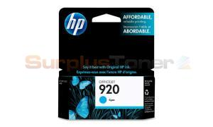 HP NO 920 OFFICEJET INK CARTRIDGE CYAN (CH634AC#140)