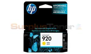 HP NO 920 OFFICEJET INK CARTRIDGE YELLOW (CH636AC#140)