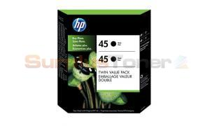 HP NO 45 INKJET CTG BLACK TWIN VALUE PACK (C6650BC#140)