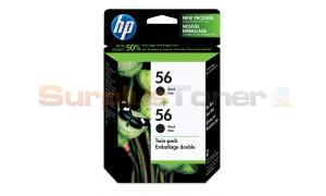 HP NO 56 INKJET CTG BLACK TWIN PACK (C9319FC#140)