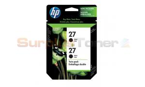 HP NO 27 INKJET CARTRIDGE BLACK TWIN PACK (C9322FC#140)