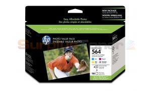 HP NO 564 INK PHOTO BLACK/CMY PHOTO VALUE PACK (CG491AC#140)
