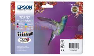EPSON STYLUS PHOTO R265 INK CTG MULTIPACK CMYK LC LM (C13T08074010)