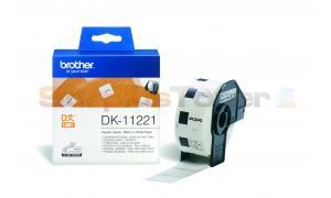 BROTHER QL-500 SQUARE LABELS BLACK ON WHITE 23 MM X 23 MM (DK-11221)