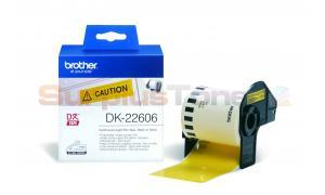 BROTHER QL-500 CONTINUOUS FILM TAPE BLACK ON YELLOW 62 MM X 15.24 M (DK-22606)