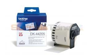 BROTHER QL-500 CONTINUOUS REMOVABLE PAPER TAPE BLACK ON WHITE 62 MM X 30.48 M (DK-44205)