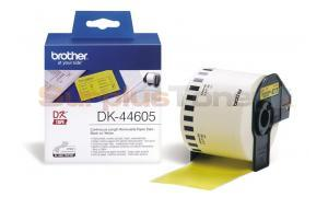 BROTHER QL-500 CONTINUOUS REMOVABLE PAPER TAPE BLACK ON YELLOW 62 MM X 30.48 M (DK-44605)