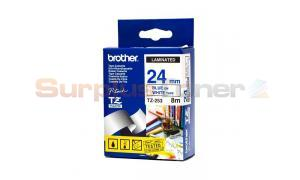BROTHER TZ LAMINATED TAPE BLUE ON WHITE 24 MM X 8 M (TZ-253)