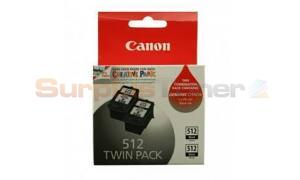CANON PG-512 INK CARTRIDGE BLACK TWIN PACK (2969B010)