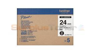 BROTHER PT-9500PC LAMINATED TAPE BLACK ON MATT SILVER 24 MM X 8 M (HG-M951V5)