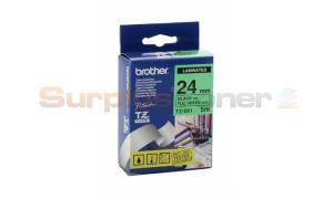 BROTHER TZ LAMINATED TAPE BLACK ON FLUORESCENT GREEN 24 MM X 5 M (TZ-D51)