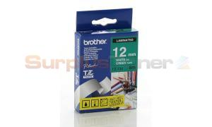 BROTHER TZ LAMINATED TAPE WHITE ON GREEN 12 MM X 8 M (TZ-735)