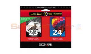 LEXMARK NO 23 24 RP PRINT CART BLACK/COLOR (18C1727)