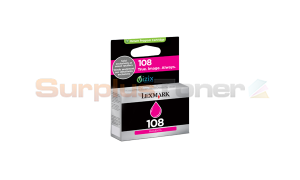 LEXMARK NO 108 INK CARTRIDGE MAGENTA RP (14N0657)
