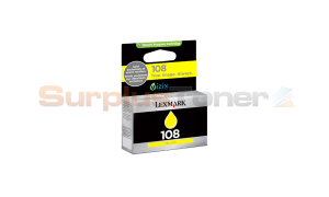 LEXMARK NO 108 INK CARTRIDGE YELLOW RP (14N0658)