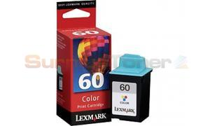 LEXMARK NO 60 PRINT CARTRIDGE COLOR (15M1059)