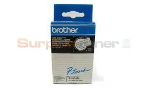 BROTHER P-TOUCH TAPE BLUE ON CLEAR 12MM X 7.7M (TC-103)