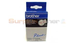 BROTHER P-TOUCH TAPE RED ON CLEAR 12MM X 7.7M (TC-102)