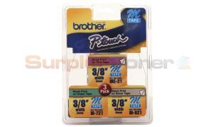 BROTHER P-TOUCH TAPE SILVER/PINK/GREEN (3/8 X 26) (ME793)