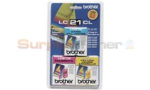 BROTHER LC21 CMY INK PACK (LC21CL3PKS)