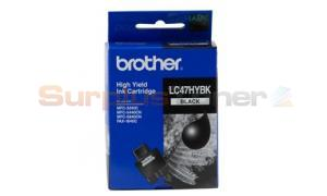BROTHER MFC-3240C INK CARTRIDGE BLACK HY (LC-47HY-BK)