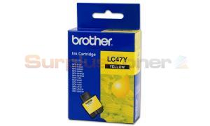 BROTHER MFC-3240C INK CARTRIDGE YELLOW (LC-47Y)
