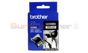 BROTHER MFC-3420J INK CARTRIDGE BLACK (LC-08BK)