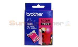 BROTHER MFC-3420J INK CARTRIDGE MAGENTA (LC-08M)
