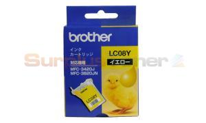 BROTHER MFC-3420J INK CARTRIDGE YELLOW (LC-08Y)