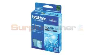 BROTHER MFC-6490CW INK CARTRIDGE CYAN HY (LC-67HY-C)