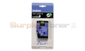 BROTHER P-TOUCH BLACK ON FLOURESCENT GREEN 12MM (TC-D001)