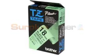 BROTHER P-TOUCH BLACK ON GREEN 18MM (TZ-N741)