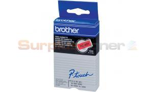 BROTHER TC TAPE BLACK ON RED 12 MM X 7.7 M (TC-401)
