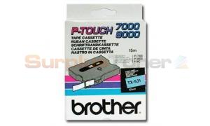 BROTHER TX TAPE BLACK ON BLUE 12 MM X 15 M (TX-531)