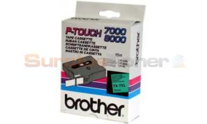 BROTHER TX TAPE BLACK ON GREEN 24 MM X 15 M (TX-751)
