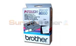 BROTHER TX TAPE BLUE ON WHITE 24 MM X 15 M (TX-253)