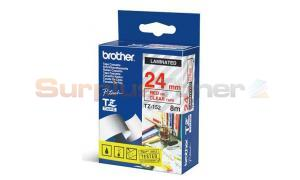 BROTHER TZ LAMINATED TAPE RED ON CLEAR 24 MM X 8 M (TZ-152)