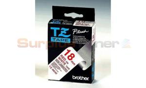 BROTHER TZ TAPE RED ON WHITE 18 MM X 8 M (TZ-N242)