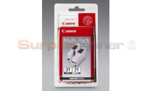 CANON BCI-21 INK CTG BLACK/COLOR MULTIPACK (0954A379)