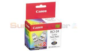 CANON BCI-24 INK CARTRIDGE COLOR TWIN PACK (6882A011)