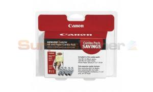 CANON BCI-24 INK TANK BLACK AND COLOR COMBO PACK WITH PHOTO PAPER (6881A055)