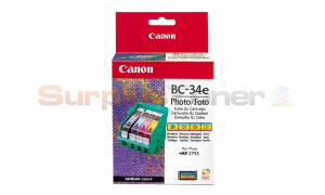 CANON BJC-3000 BC-34E PHOTO INK CTG PBK/PC/PM/Y (4612A002)