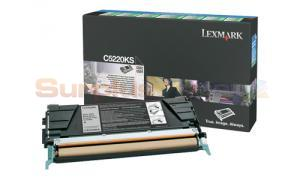 LEXMARK C524 TONER CARTRIDGE BLACK RP (C5220KS)