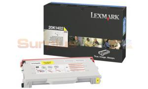 LEXMARK C510 TONER CART YELLOW 6.6K (20K1402)