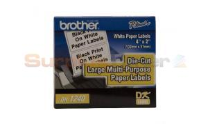 BROTHER P-TOUCH PAPER LABELS 4IN X 2IN (DK1240)